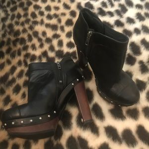 UGG Australia Leather Studded Booties